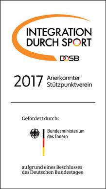 Der FSV ist anerkannter Stützpunktverein 2017 für Integration durch Sport.